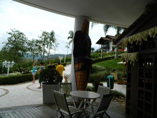 Fazzenda Park Hotel: Acceso a los diferentes alojamientos.