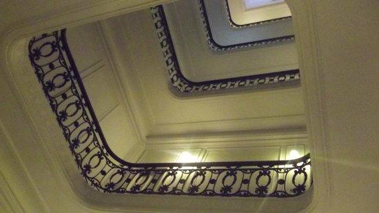 Hotel Mundial: Balaustrada dos andares