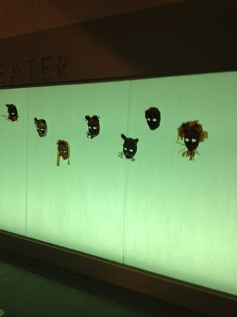 Scottsdale Center for the Arts: wall decorated with handmade masks