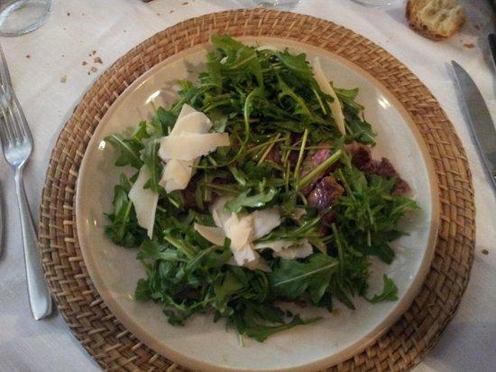 Antico Frantoio: Tagliata di Bufalina ,rucola,parmigiano con aceto balsamico e olio al limone