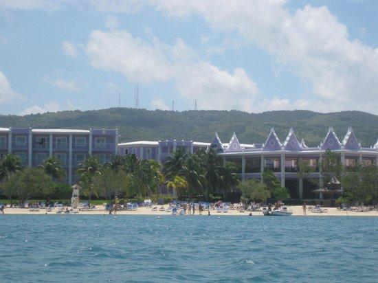 Hotel Riu Montego Bay: Resort taken from a kayak we were on