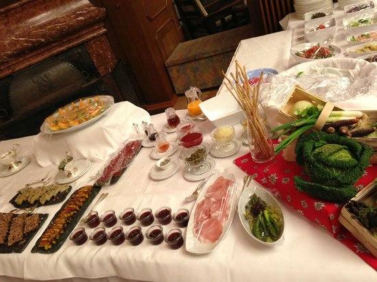 Hotel Waldhaus: Dessertbuffet