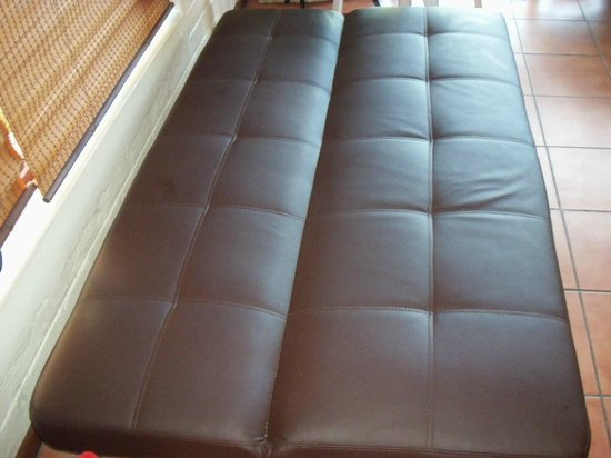 Pine Lake Marina: fold-down sleeper couch