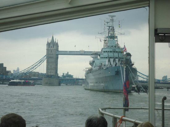 Thames River Adventures : Tower Bridge and HMS Belfast as seen from the Boat