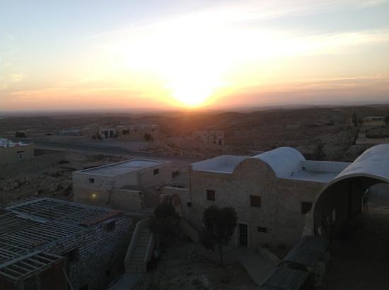 coucher de soleil sur Tamezret