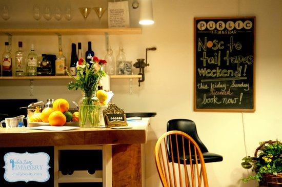 Public Kitchen & Bar: This bar always features fresh fruit and flowers.