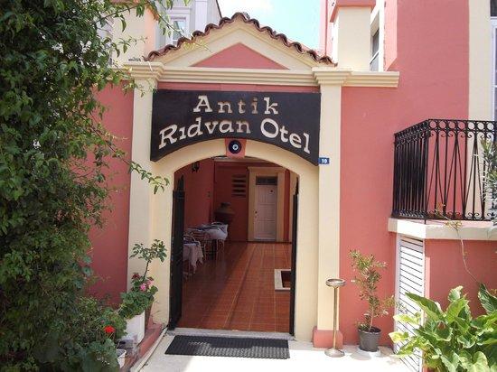 Antik Ridvan Otel: otel girişi