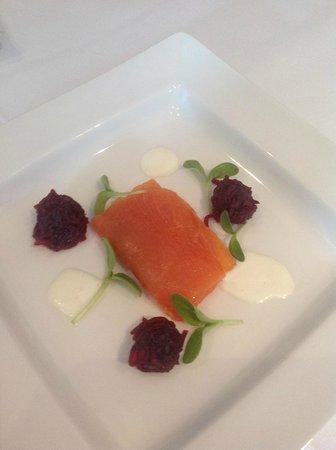 The Green Room Restaurant: Salmon Starter