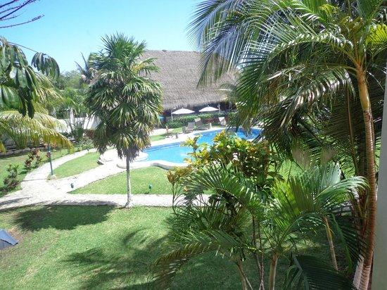 Villa Tulum: Vista desde la habitación en el primer piso