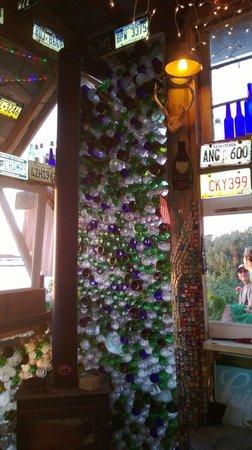 Low-Key Hideaway: Quirky wine walls