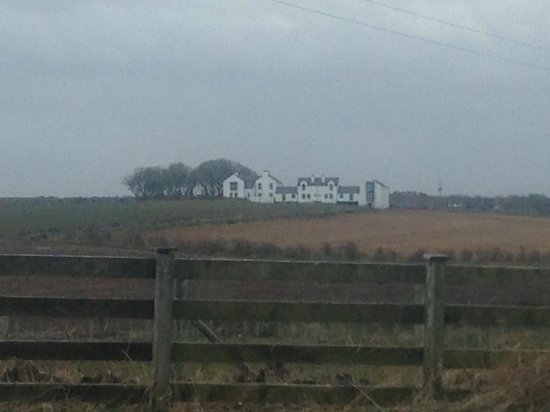 Bayview Farm Holiday Cottages: a view from the road