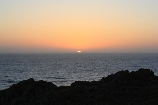 Arriba de la Roca: Sunset from the firepit