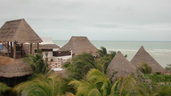 โรงแรมลาส นูเบส เด โฮลบ็อกซ์: utsikt från takterassen