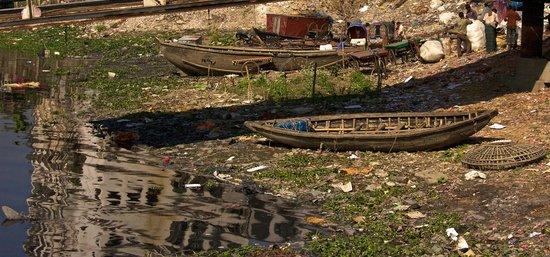 Sadarghat Ferry terminal - the river bank