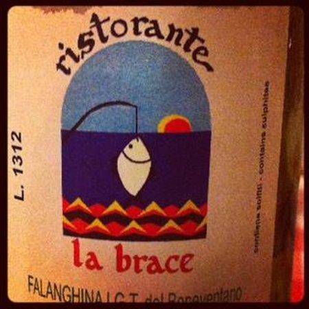 La Brace : il vino della casa
