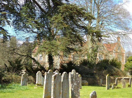 St Mary, Breamore: St Mary's graveyard & Breamore House behind