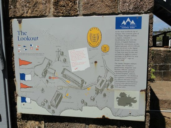 Nelson's Dockyard: English Harbor sign