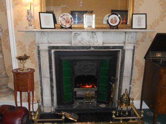 Belvedere Lodge: Lovely Adams fireplace.
