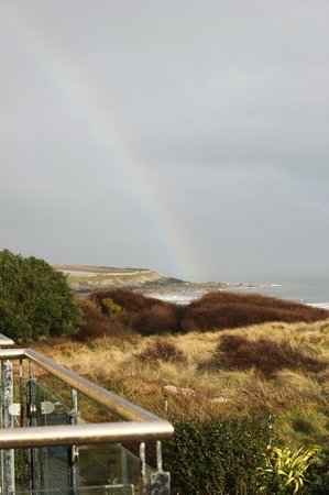 The Waterside House Hotel: Beautiful rainbow from our room