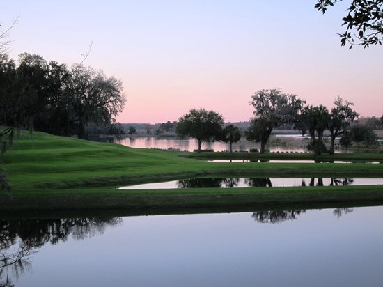 Inn at Middleton Place: Sunset over butterfly ponds