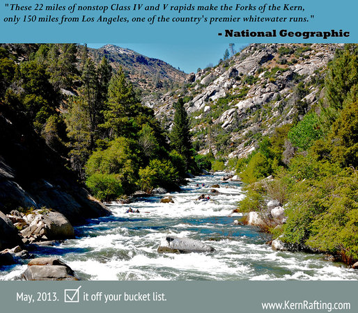 Kern River Outfitters: Our Forks of the Kern Class V wilderness trip is considered the most exciting multi-day in the c