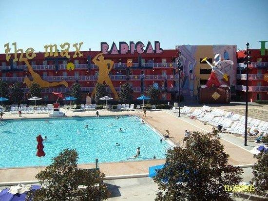 Disney's Pop Century Resort: Floppy Disk pool