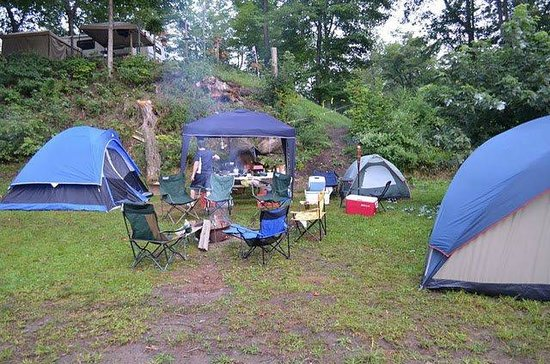Kittatinny River Beach Campground : Camp Site 182 (i think)