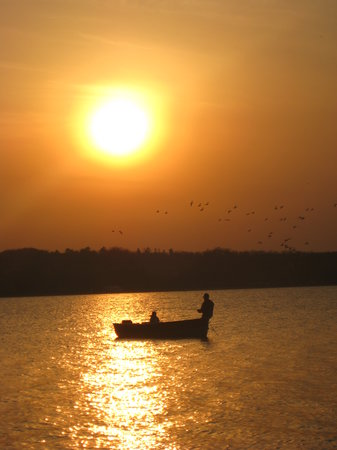 Batman's Cottages & Campground : Fishing in Sunset with Rental Boat