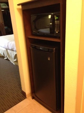 Hampton Inn Knoxville Airport: microwave and fridge. yes!