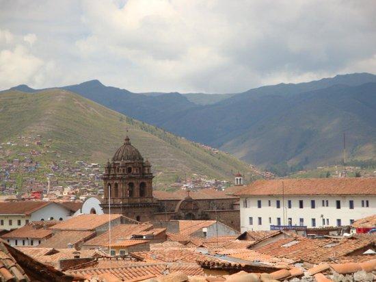 Tierra Viva Cusco Plaza : vista desde el balcón de la recepción del hotel