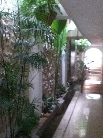 Casa Mary: corredor de entrada