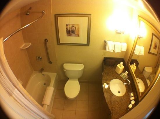 Hilton Garden Inn Albany / SUNY Area: banheiro quarto queen - duas camas