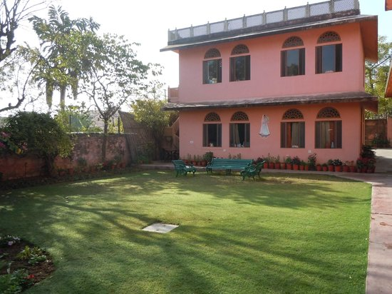 Jaipur Heritage Home: A view of two of the rooms from the garden area
