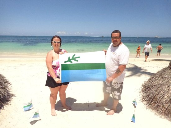 Dreams Palm Beach Punta Cana: picture with our flag