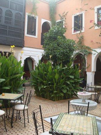 Les Borjs de la Kasbah: the courtyard