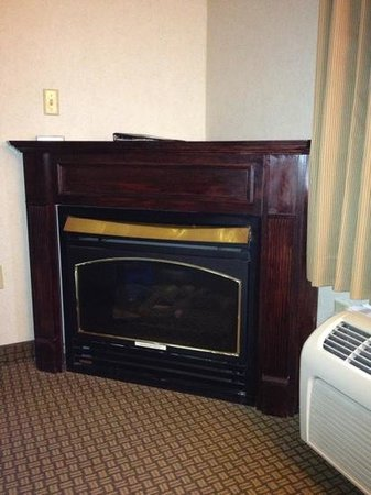 The Inn At Lenox View: cool fireplace