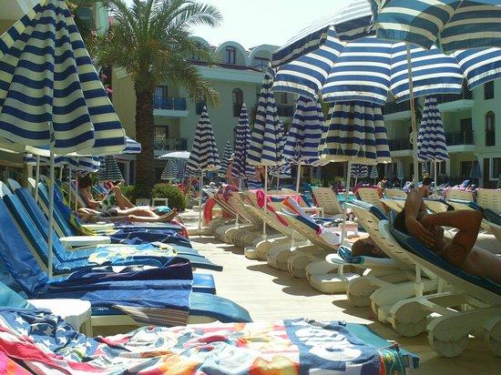 Candan Club Hotel: Sun loungers