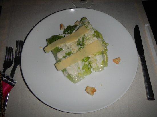 Melia Cabo Real All-Inclusive Beach & Golf Resort: Caesar salad in the specialty restaurant La Terraza