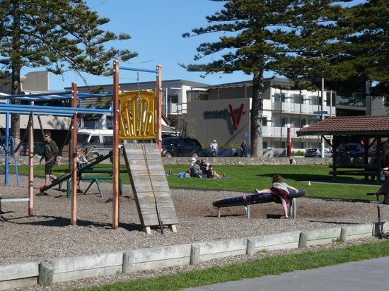 Navigate Seaside Hotel & Apartments: Playground Accross the road