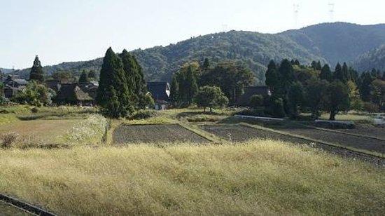 在原, 山奥の耕地と茅葺農家