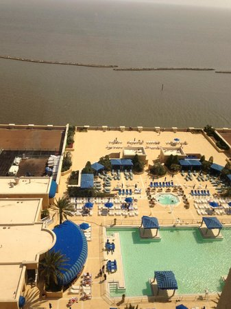 Beau Rivage Resort & Casino Biloxi: View of Pool and Ocean  Room 19059
