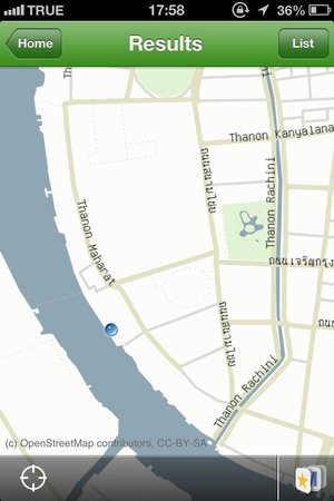 Sala Arun: Map
