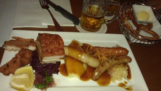 Bavarian Bier Cafe: Delicious food and beer.