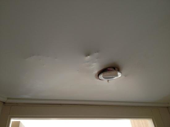 Augeval Hotel : plafond de la SDB
