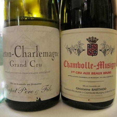 Le Villaret : Domaine Rapet Conton Charlemagne Grand Cru 2002+ BARTHOD Chambolle-Musigny Aux Beaux Bruns 2007