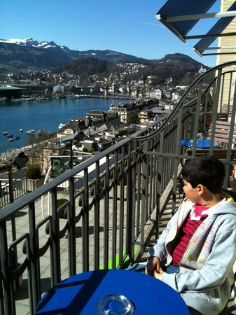 Art Deco Hotel Montana Luzern: Beatifull view from Lucerne