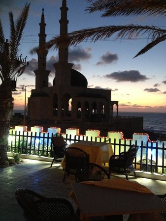 Gaza City, Palestina: view from terrace at Sunset