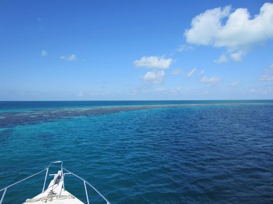 The Great Blue Hole at Lighthouse Reef: entering the Blue Hole