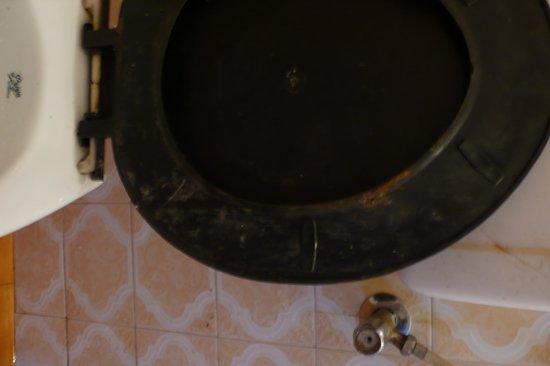 Hotel Republica: dirty toilet