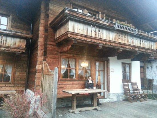 Ferienhof Brugger: Terrace of the chalet